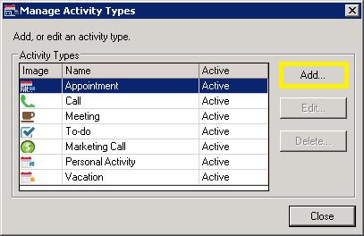 Manage Activity Types
