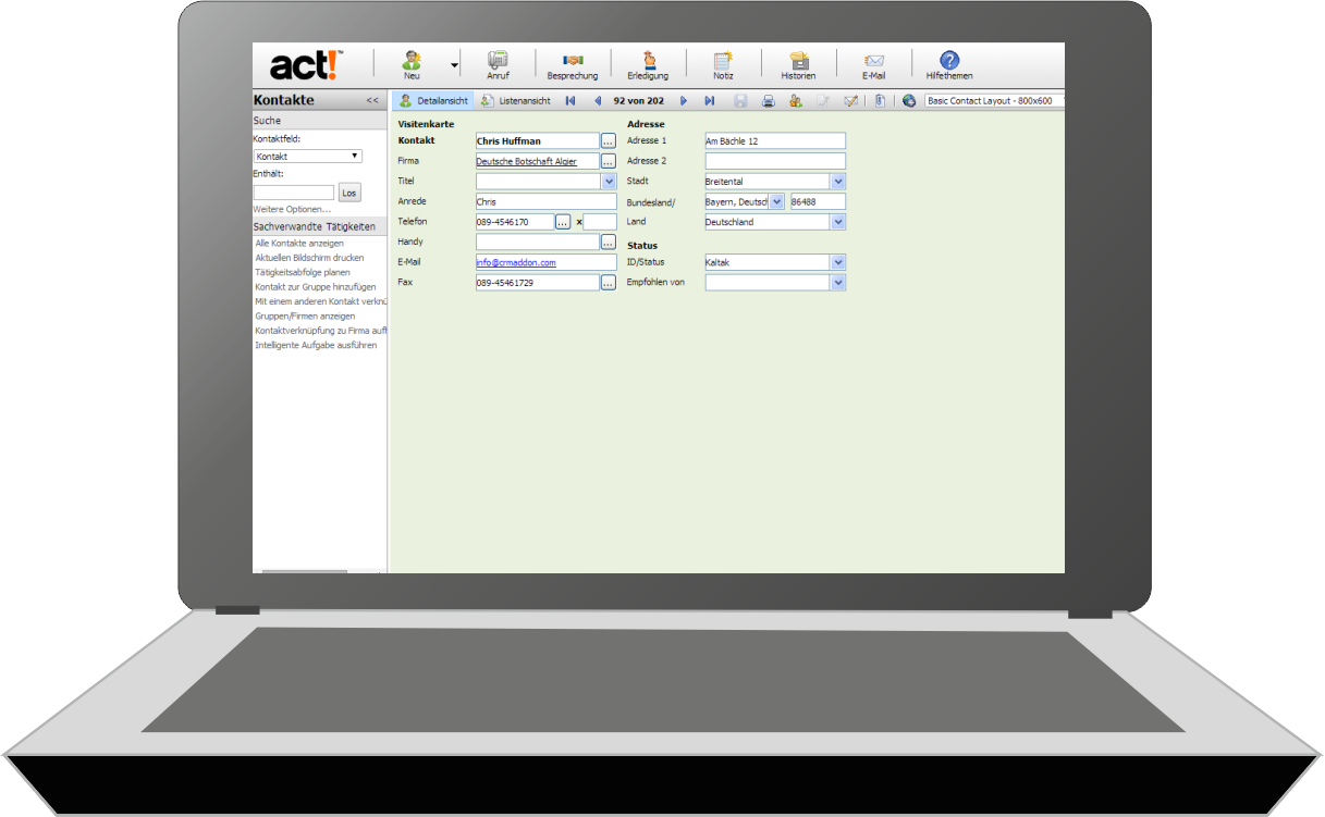 Act! for Web testen