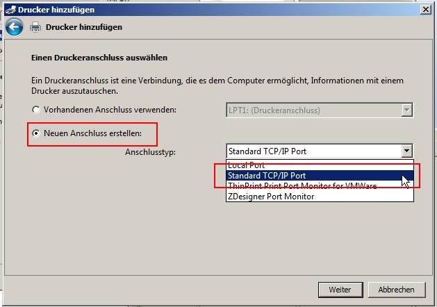 Standard TCP/IP